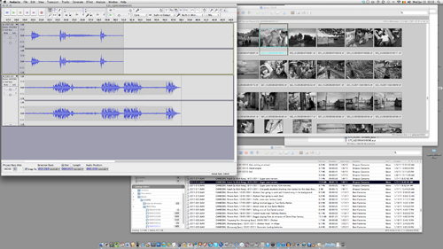 Combining Audacity and iView for the sound clips...